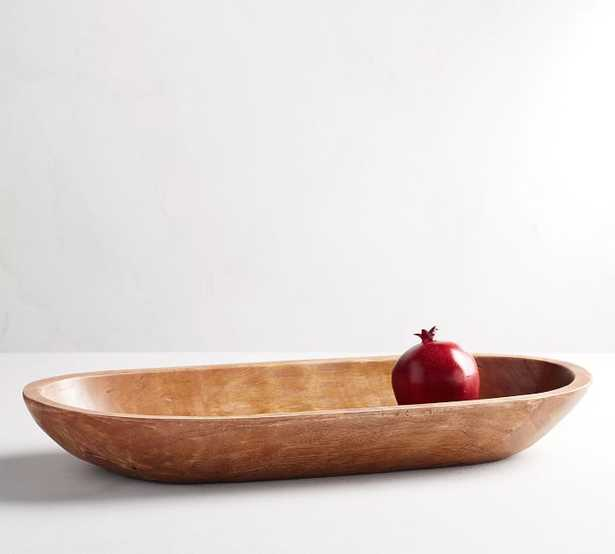 Vintage Wood Carved Oval Tray - Pottery Barn