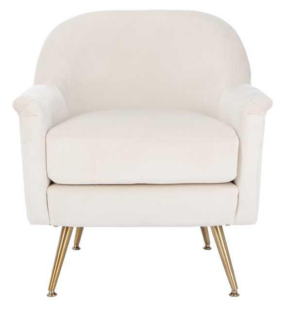 Brienne Velvet chair - Beige - Maren Home