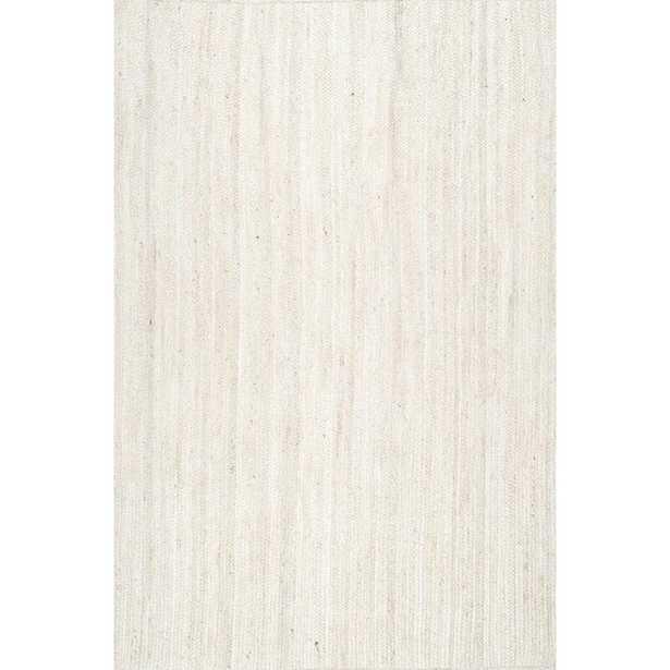 Burrillville Handmade Tufted Jute/Sisal Off-White Area Rug- 8 x 10 - Wayfair