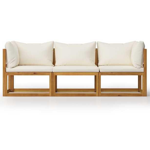 Latitude Run® 3-Seater Garden Sofa With Cushion Solid Acacia Wood - Wayfair