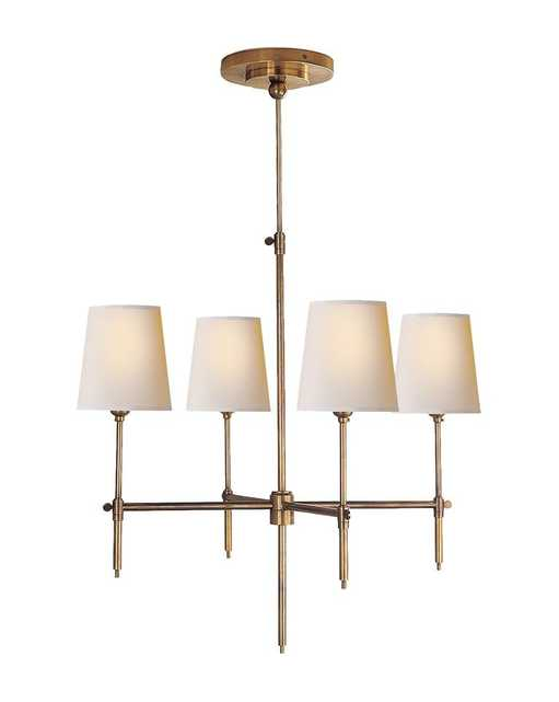BRYANT SMALL CHANDELIER - HAND-RUBBED ANTIQUE BRASS - McGee & Co.