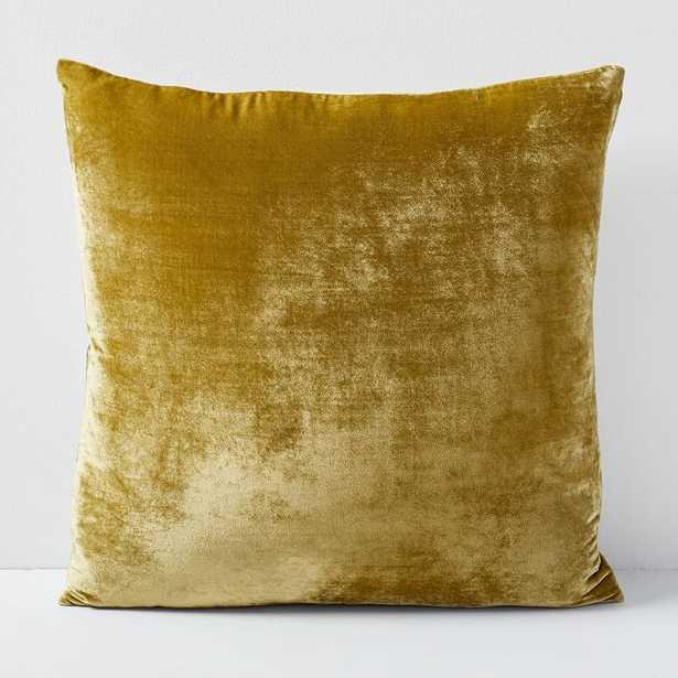 """Lush Velvet Pillow Cover, 20""""x20"""", Wasabi - West Elm"""