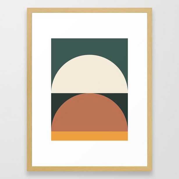 Abstract Geometric 01e Framed Art Print by The Old Art Studio - Conservation Walnut - MEDIUM (Gallery)-20x26 - Society6