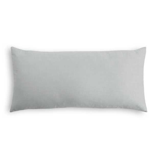 "Classic Linen Pillow, Classic Gray, 12"" x 18"" Lumbar - Havenly Essentials"