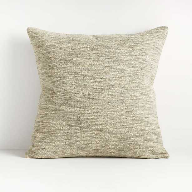 """Ria Neutral Pillow 20"""" with Feather-Down Insert - Crate and Barrel"""