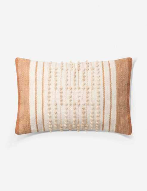 OISE LUMBAR PILLOW, RUST AND NATURAL, ED ELLEN DEGENERES CRAFTED BY LOLOI - Lulu and Georgia