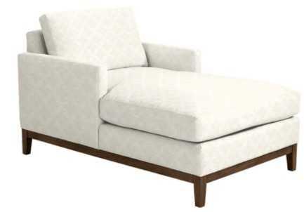 Hartwell Upholstered Chaise-Erica White Insideout Performance - Ballard Designs