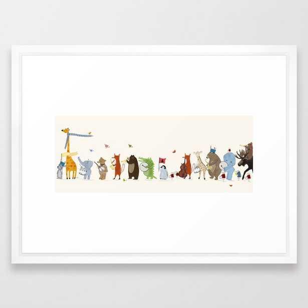 "little big parade edition Framed Art Print, 20""x26"", Vector White - Society6"