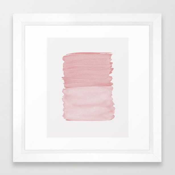 Blush Abstract Minimalism #1 #minimal #ink #decor #art #society6 Framed Art Print - Society6