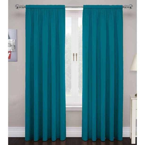Saundra Solid Room Darkening Rod Pocket Curtain Panels - AllModern