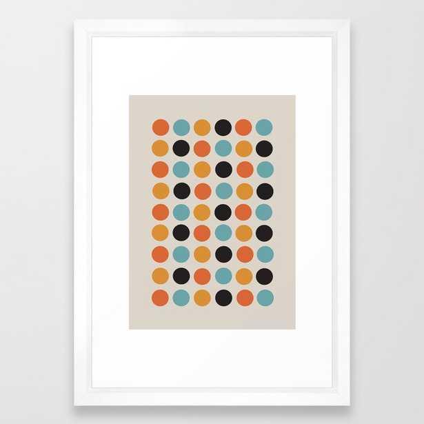 """Bauhaus dots Framed Art Print, 15"""" x 21"""", Vector white frame - Society6"""