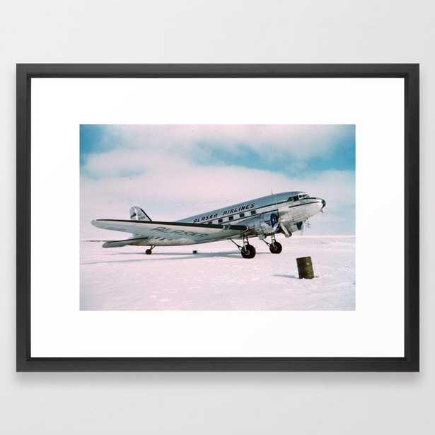 Vintage aviation photograph Alaska Airlines airplane air plane classic pilot flight travel photo Framed Art Print - Society6