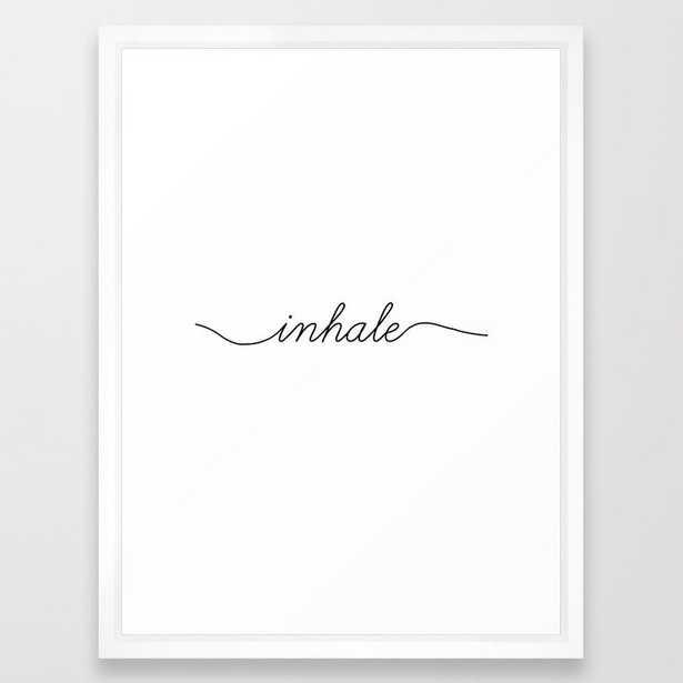 inhale exhale (1 of 2) Framed Art Print - Society6