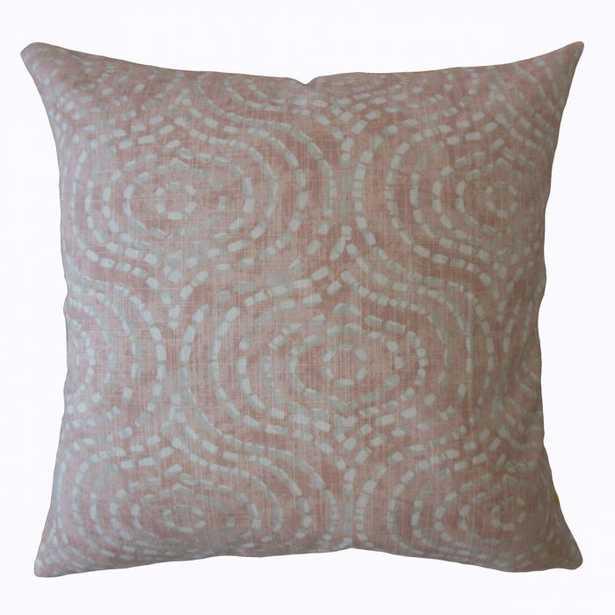 "Varian Geometric Pillow BLUSH- 20"" x 20"" w/ Down Insert - Linen & Seam"