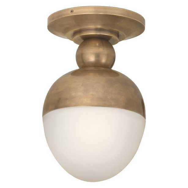 CLARK FLUSH MOUNT - HAND-RUBBED ANTIQUE BRASS - McGee & Co.