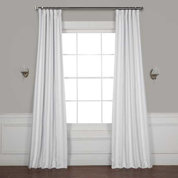 "Freemansburg Solid Blackout Thermal Rod Pocket Single Curtain Panel - Swiss Coffee/White - 108"" L - Wayfair"