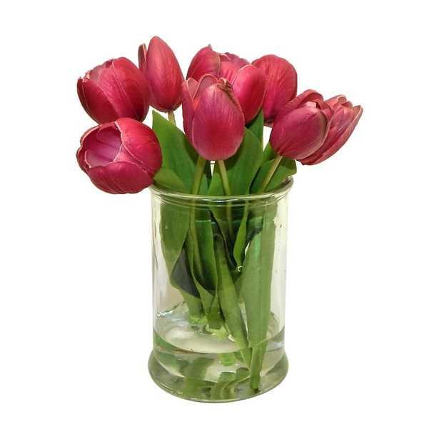 Real Touch Tulip Floral Arrangement - Wayfair