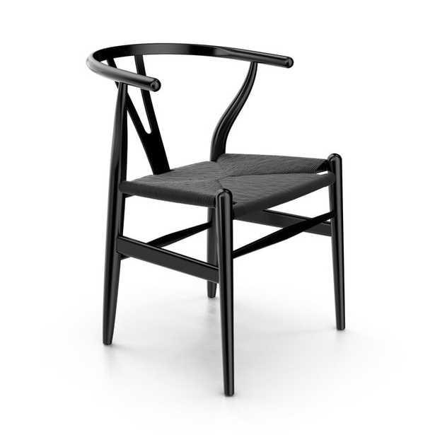Solid Wood Slat Back Arm Chair- set of 2 - Wayfair