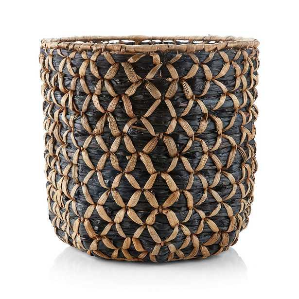 Safiyah Woven Black and Natural Basket - Crate and Barrel