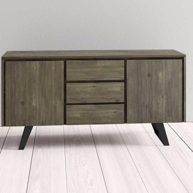 "Elle 60"" Wide 3 Drawer Acacia Wood Buffet Table - Wayfair"
