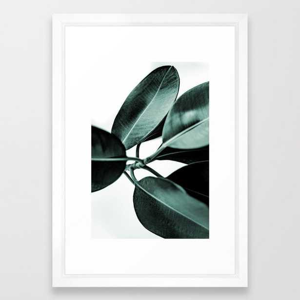 Minimal Rubber Plant Framed Art Print - Society6