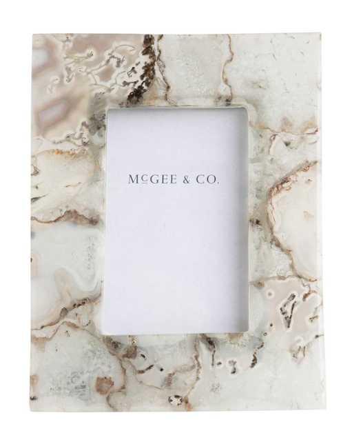 "AGATE STONE FRAME - 4"" x 6"" - McGee & Co."