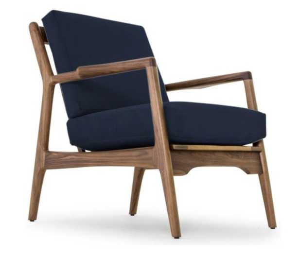 Collins Chair - Bentley Indigo - Joybird