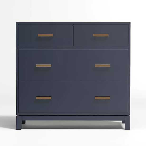 Kids Parke Navy Blue 4-Drawer Chest - Crate and Barrel