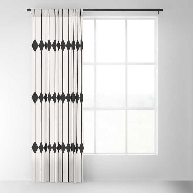 "Minimal Geometric Pattern - Black and White Blackout Curtain set of 2- 50"" w x 84"" L - Society6"