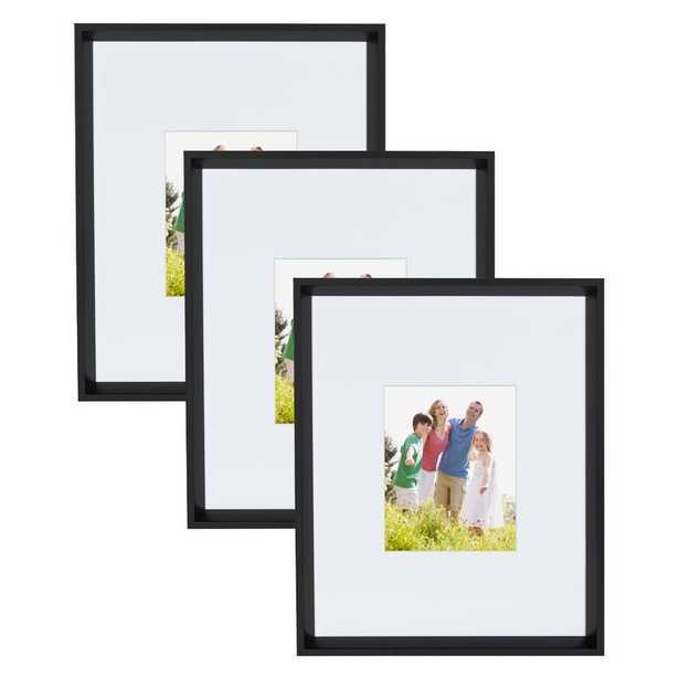 Ivor Matted Wall Picture Frame / Black / Set  of 3 - Wayfair