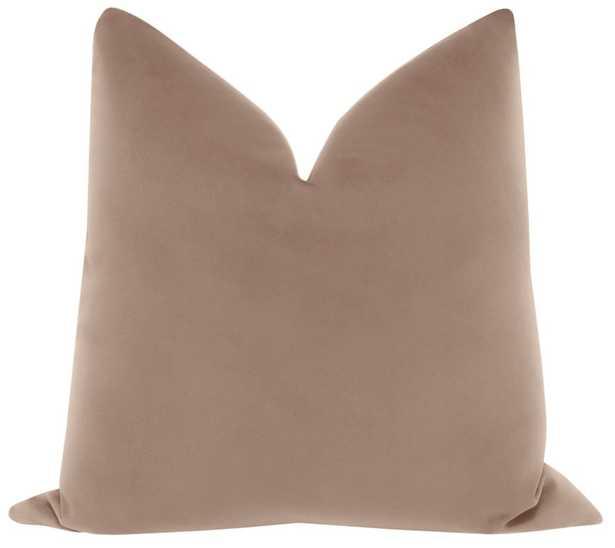 """Signature Velvet  Pillow Cover// Mauve- 20""""x20"""" - Little Design Company"""