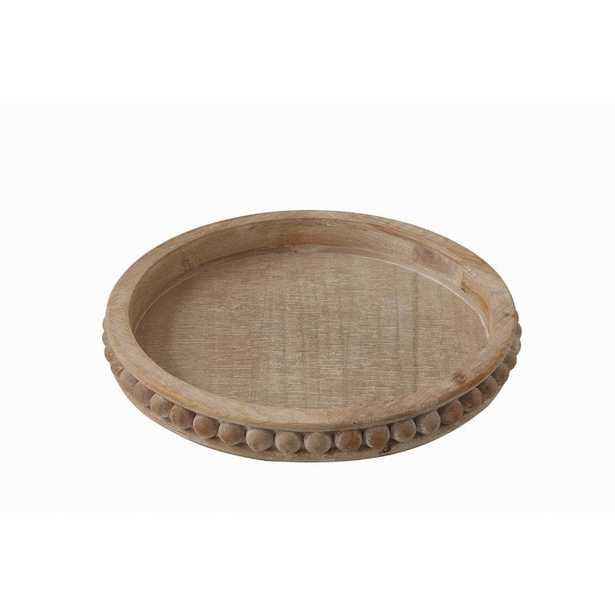 Brashear Round Wood Coffee Table Tray - Wayfair