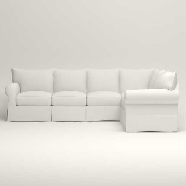 Jameson Slipcovered L-Shaped Sectional - Right Facing - Classic Bleach White - Birch Lane