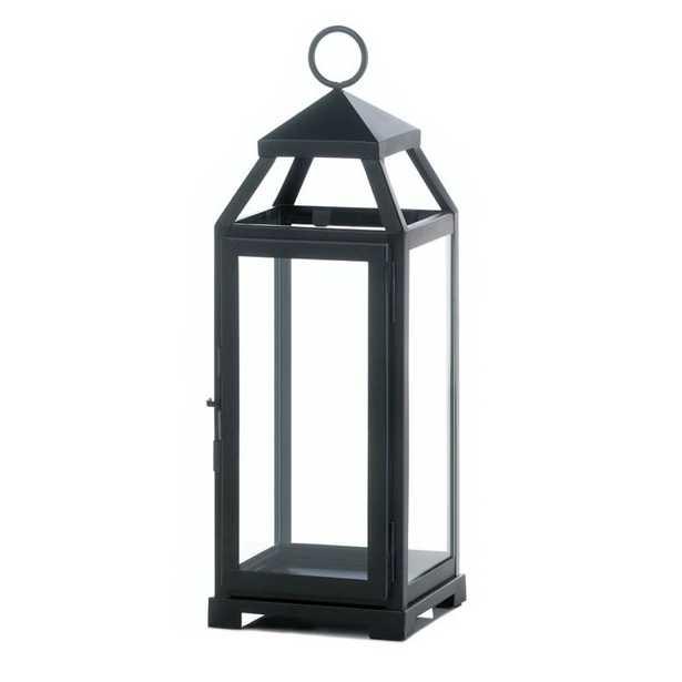 La Lean and Sleek Iron and Glass Lantern - Wayfair