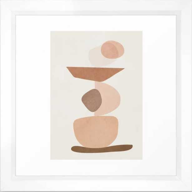 Balancing Elements II Framed Art Print - Society6