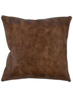 """18"""" NARGES SOLID PILLOW BROWN - Linen & Seam"""