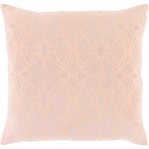 "Kaelyn Pillow, 18""x18"", Peach - Studio Marcette"