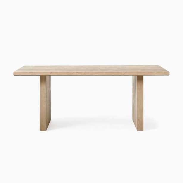"Santa Rosa Plank Dining Table, 76"", Driftwood - West Elm"