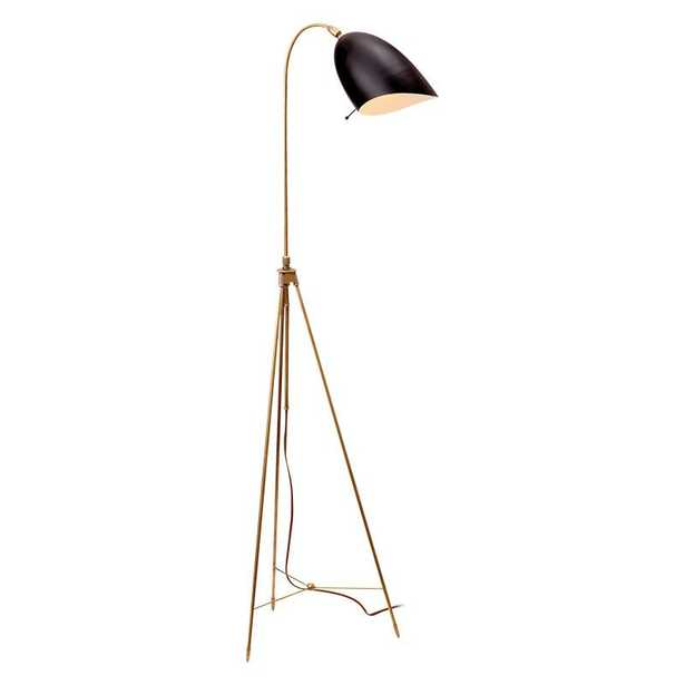 SOMMERARD FLOOR LAMP - HAND-RUBBED ANTIQUE BRASS WITH BLACK - McGee & Co.