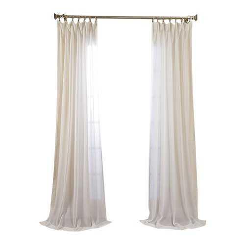 "Cristopher Solid Sheer Rod Pocket Single Curtain Panel -120"" - AllModern"