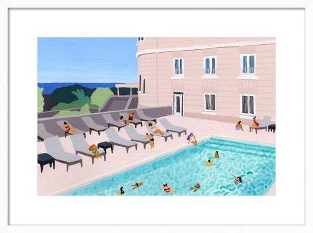 Piscine de l'hôtel by Joanne Ho for Artfully Walls - Artfully Walls