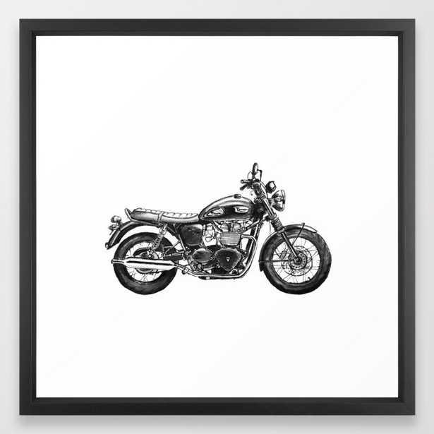 Triumph Motorcycle Framed Art Print - Society6