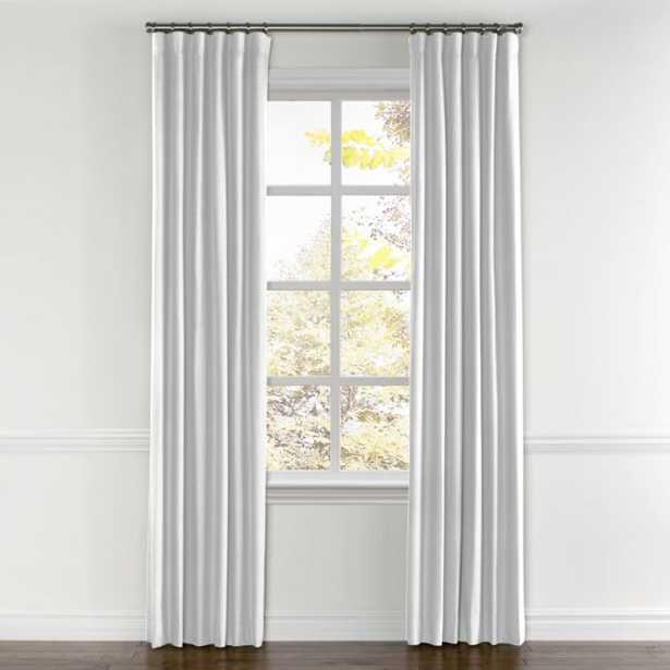 "Convertible Drapery / Classic Linen - White / 81""W x 123""H / Pair, Split Draw / Blackout - Loom Decor"