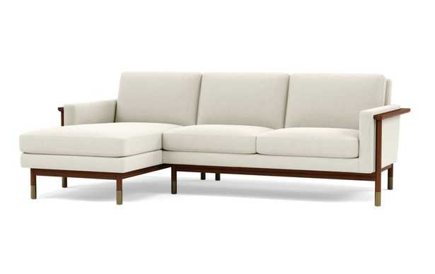 JASON WU Sectional Sofa with Left Chaise - Chalk - Oiled Walnut with Brass Cap - Interior Define