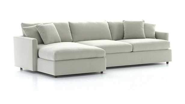 Lounge II 2-Piece Sectional Sofa - View, Gray - Crate and Barrel