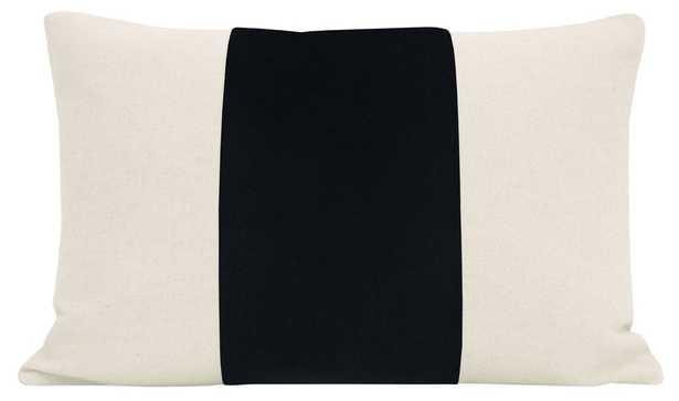 "Discontinued The Little Lumbar :: PANEL Signature Velvet // Noir - 12"" X 18"" - Little Design Company"