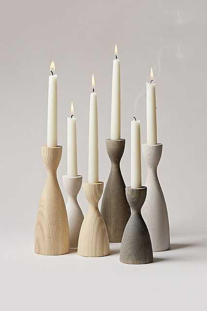 Farmhouse Pottery Pantry Candlestick - Medium Light Grey ONLY - Anthropologie