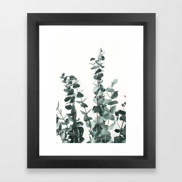 Eucalyptus Leaves Framed Art Print by ArtPrInk Studio Vector Black 10x12 - Society6