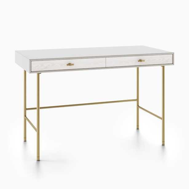 Modernist Wood & Lacquer Desk - Winter Wood - West Elm