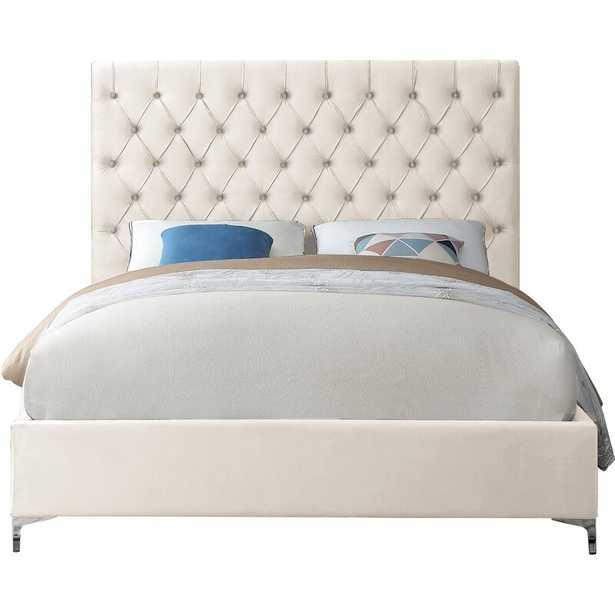 Dermott Upholstered Platform Bed - Cream King - Wayfair